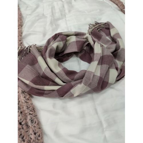 Теплый женский кашемировый шарф в клетку Checkered B1745