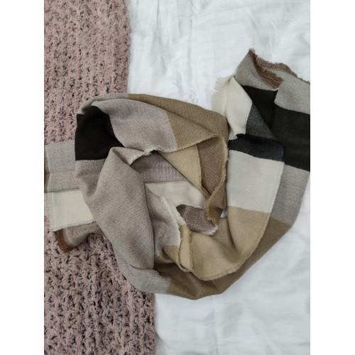 Теплый женский кашемировый шарф Line-B1747