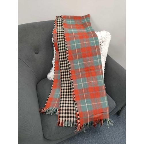 Теплый женский кашемировый шарф Line-B1749