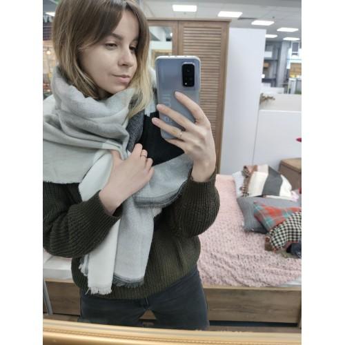 Теплый женский кашемировый шарф Line-B1752
