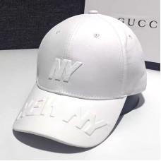Женская кепка - бейсболка - NY 3D H1090 White