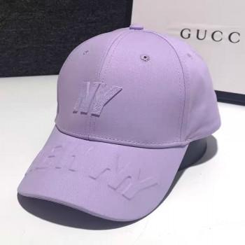 Женская кепка - бейсболка - NY 3D H1090 Purple