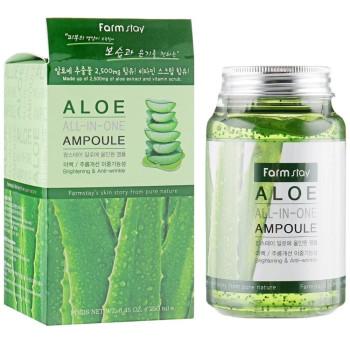 Ампульная сыворотка с экстрактом алоэ FarmStay Aloe All-In-One Ampoule 250ml