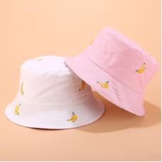 Двухсторонняя панама Banana YFM633 White/Pink унисекс