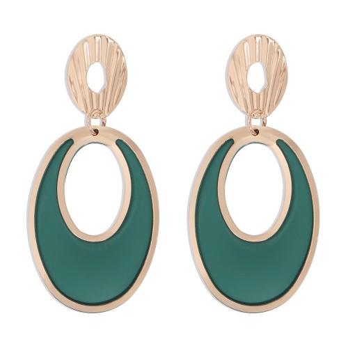Круглые сережки - гвоздики 2Round E9283 Green