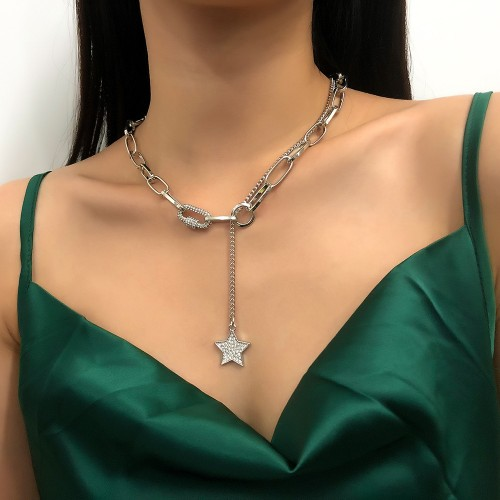 Колье цепь из металла Star N8151 Silver 47 см