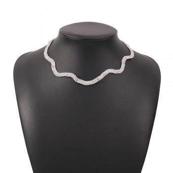 Колье чокер из металла Diamond N8141 Silver 40 см