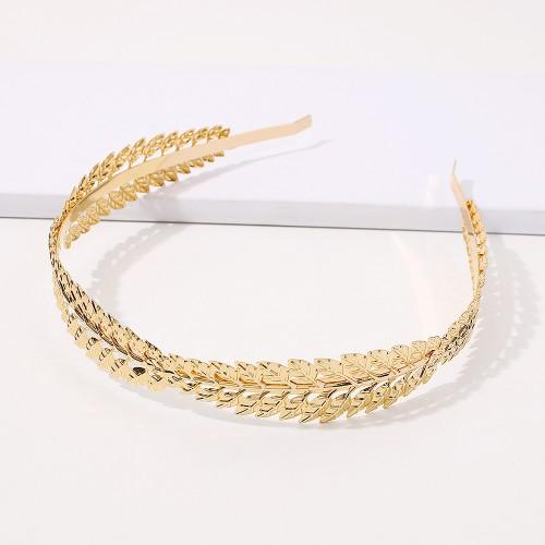 Обруч Leaves Baroque F2819 Gold