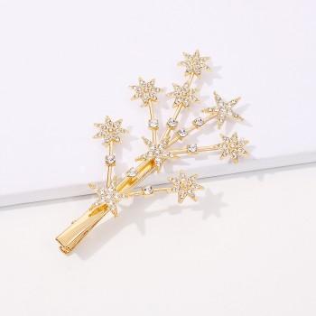Заколка - зажим для волос Tree Star F2807 Gold
