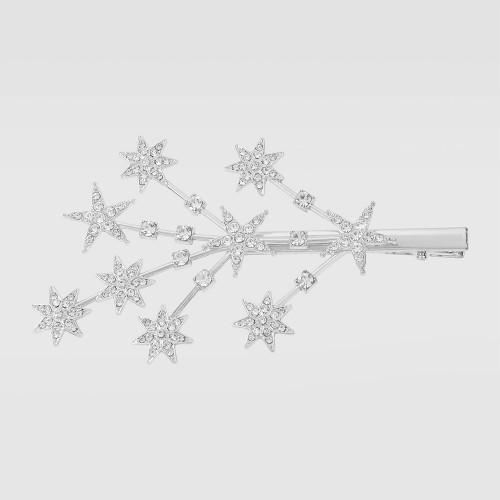 Заколка - зажим для волос Tree Star F2807 Silver