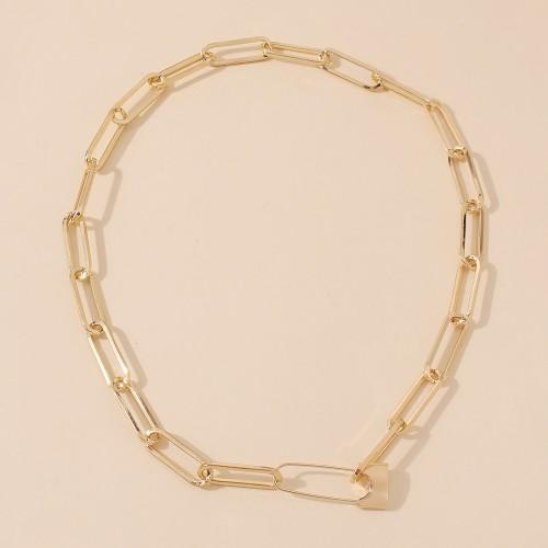 Колье цепь из металла Lock N8106 Gold 43 см