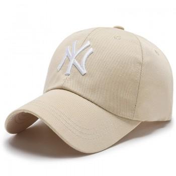 Кепка - бейсболка - NY R-002 Beige унисекс