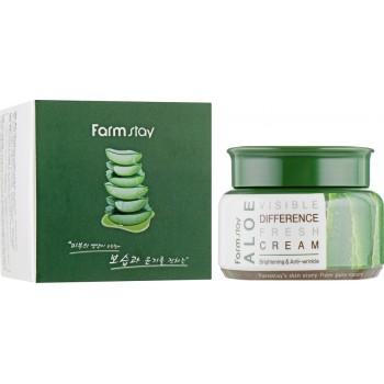 Освежающий крем с экстрактом алоэ FarmStay Visible Difference Aloe Fresh Cream