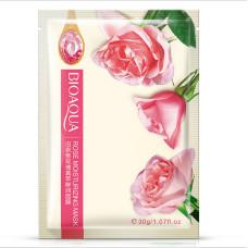 Тканевая маска для лица с экстрактом розы BIOAQUA Rose MOISTURIZING MASK