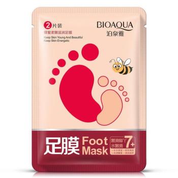 Шкарпетки для пілінгу з екстрактом меду Bioaqua Honey soft Foot Mask