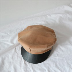 Женская кепка - кепи BEIGE chrm-A674 Бежевая