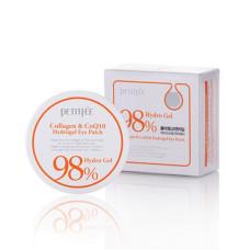 Гидрогелевые патчи для глаз с коллагеном и коэнзимом Petitfee&Koelf Collagen & Co Q10 Hydrogel Eye Patch 60 шт