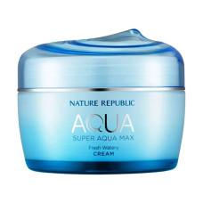 Зволожуючий крем-гель для жирної шкіри обличчя NATURE REPUBLIC Super Aqua Max Fresh Watery Cream 80 мл