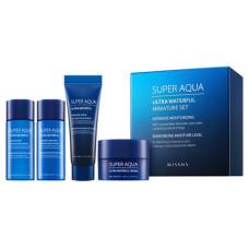 Набор Missha Super Aqua Ultra Waterful Miniature Set (toner/15ml + emulsion/15ml + serum/7ml + cr/10ml)