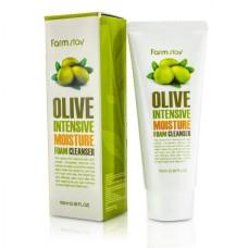 Интенсивно увлажняющая пенка с экстрактом оливы FarmStay Olive Intensive Moisture Foam Cleanser, 100мл
