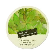 """Крем для зняття макіяжу """"Зелений чай"""" The Face Shop Herb Day Cleansing Cream Green Tea 150 мл."""