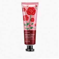 Крем для рук с экстрактом розы Rorec natural green hand cream rose HC5944