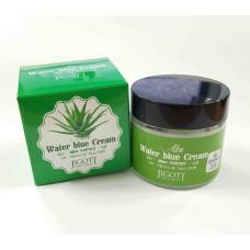 Успокаивающий крем Jigott с экстрактом алое  – Aloe Water Blue Cream 70 мл