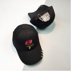 Стильная женская кепка - бейсболка ROSE  - Black