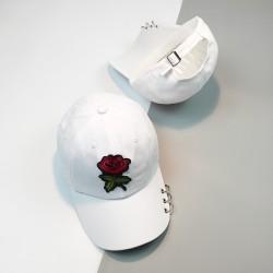 Стильная женская кепка - бейсболка ROSE  - White