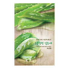 Тканевая маска для лица с экстрактом алое Nature Republic Real Nature Mask Sheet - Aloe