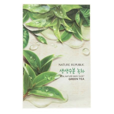 Тканевая маска для лица с экстрактом зеленого чая Nature Republic Real Nature Mask Sheet - Green Tea