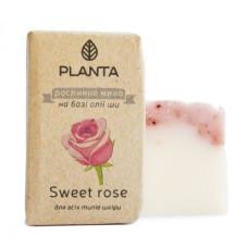 Натуральное мыло ши Planta Sweet rose, 100 г