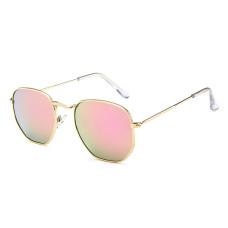 Женские солнцезащитные очки Photometric Mercury Lens - №3548 Gold Polygon Retro Style